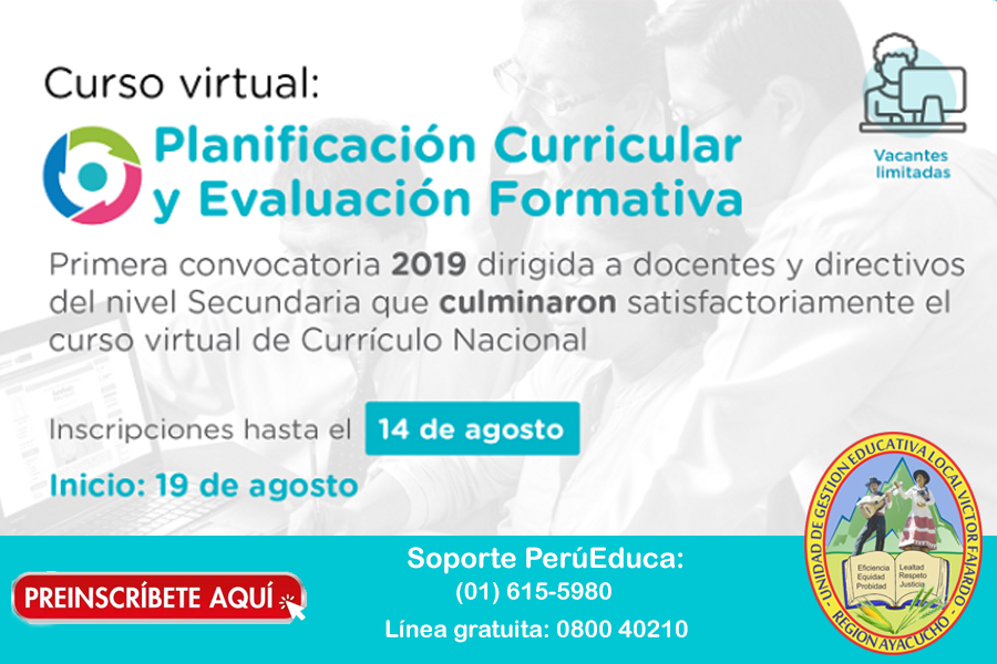 CURSO VIRTUAL - PLANIFICACIÓN CURRICULAR