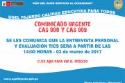 CAS 008 - 009 ENTREVISTA Y EVALUACION TICS