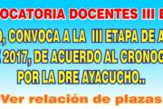 Convocatoria docentes III ETAPA