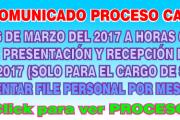 Ampliación de cronograma para cargo de secretaria CAS N° 11