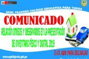 COMUNICADO DE OMISOS Y OBSERVADOS 2019