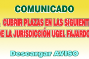 Comunicado Cubrir Plazas