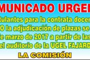 Contratación docente 2017 3ra etapa 2do tramo