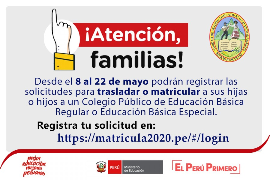 COMUNICADO ATENSION FAMILIAS